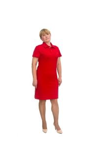 Платье «Поло» красное